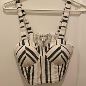 Striped crop top with